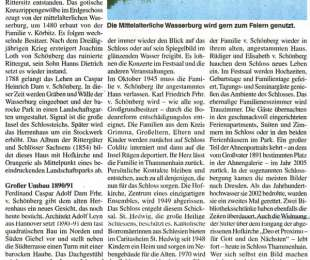 Zeitungsartikel über Schloss Thammenhain